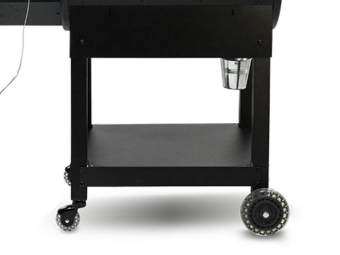 Solid Bottom Shelf with Casters