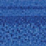 Blue Denali Mosiac Vinyl Above-Ground Beaded Liner Pattern