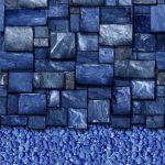 Blue Slate Streamstone Vinyl Above-Ground Beaded Liner Pattern