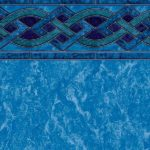 Solona Blue Marble Vinyl Above-Ground Pool Liner Pattern