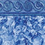 Spiral Mosaic Ocean Breakers Vinyl Inground Pool Liner Pattern