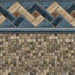 Tan Mountain Top Tan Mosaic Vinyl Above-Ground Pool Liner Pattern